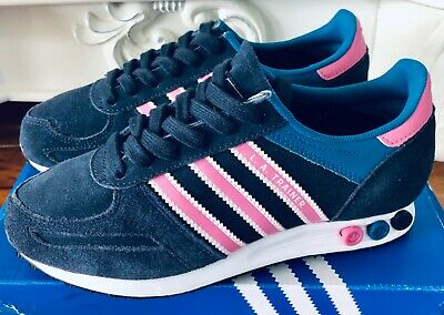 Adidas Shoes LA Trainer Sneakers Shoes 5.5 US Women Dark Blue NIB