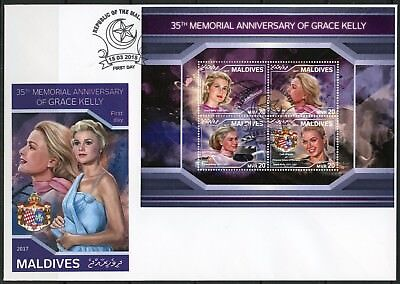 MALDIVES 2018  35th MEMORIAL ANN OF GRACE KELLY SHEET FIRST DAY COVER