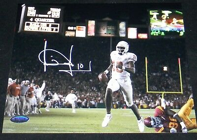 Vince Young Signed Autographed Texas Longhorns 8X10 Rose Bowl Photo Tristar