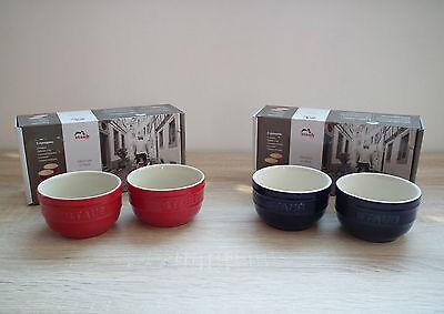 2er Set Staub Keramik Förmchen 8 cm 0,2 l Dessertschale Souffleförmchen Backform