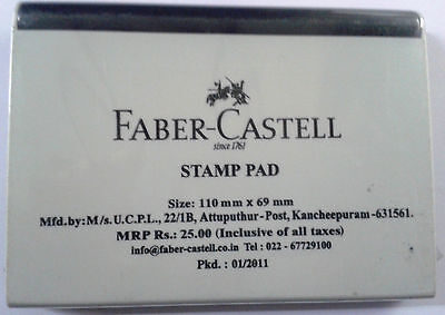 Faber-Castell Stamp Pad  Black Ink  Ink Pad  110mmx69mm  Stamp Pad