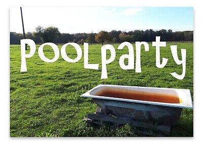 Poolparty Einladungskarten 25 tlg. Sommerparty Geburtstag