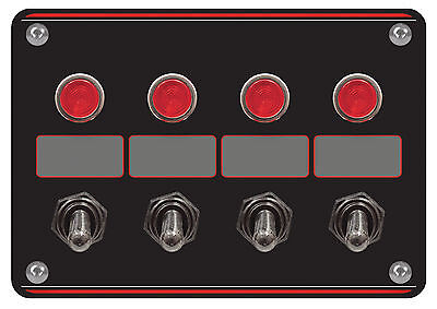 Longacre 44865 Switch Panel with Four Accessory Switches and Lights #1753