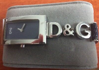 Gebraucht, Dolce & Gabbana Armbanduhr für Damen mit Original D & G Jeans Armband gebraucht kaufen  Deutschland