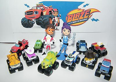 Blaze and the Monster Machines Figure Set of 13 with Blaze, AJ, Zeg and More!](Monster Machines)