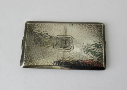 Antique Sterling Silver Vinaigrette~~Hand Hammered, Calling Card Size