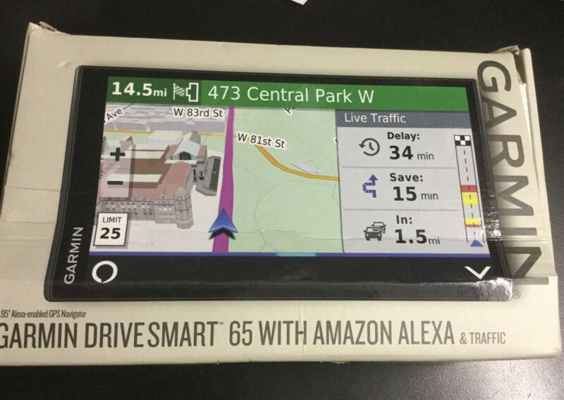 Garmin DriveSmart 65 Automotive Mountable GPS Navigator with Amazon Alexa #8651