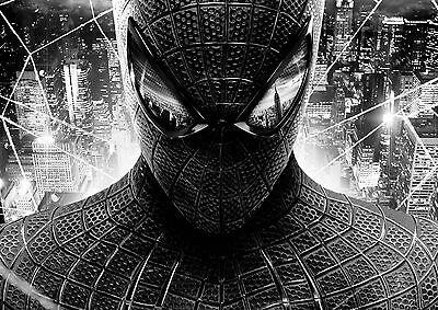 Spiderman Large BOX CANVAS Art Print Black & White - All Sizes Canvas Art Print Box