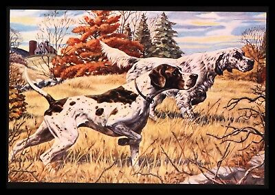 """Perfect Point"" Beautiful Bird Hunting Dogs! Calendar Art Print"