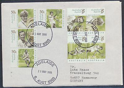Australien 2 Briefe aus 2200 - 2207 nach Deutschland / Tennis ..................