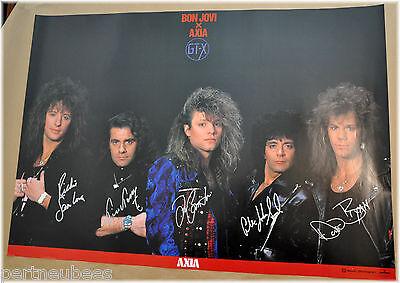 BON JOVI  Axia GT-X  PROMO Poster JAPAN SIGNED w/Silver Pen (Copy of signatures)