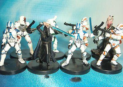 Star Wars Miniatures Lot  Clone Trooper Shaak Ti Barriss Offee !!  s97