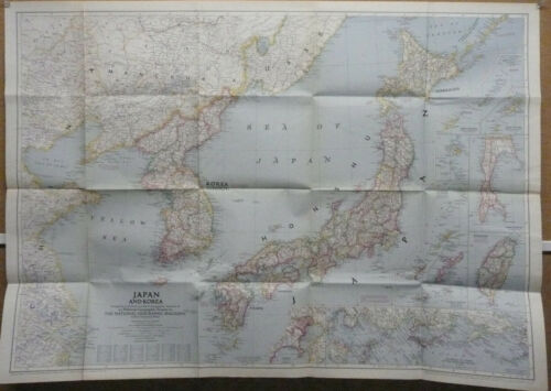 Japan Korea 1945 National Geographic Map