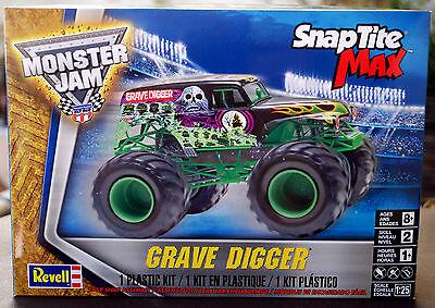 Grave Digger Monster Truck Snap-Kit, 1:25, Revell 1234 wieder neu 2017 (Monster Truck Grave Digger)