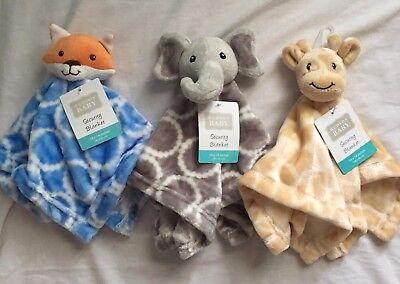 Hudson Baby Security Blanket, Plush Gift Elephant, Fox, Giraffe, Boys Girls L20](Giraffe Blanket)