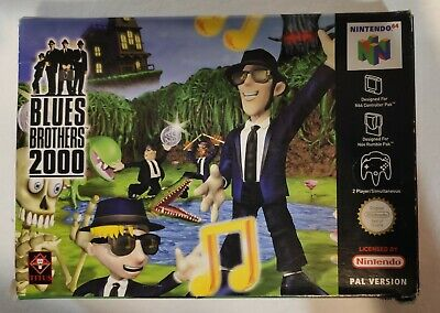 Blues Brothers 2000 Rare N64 PAL Boxed Game With Manual and Box Protector