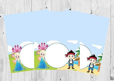 Princess and Pirate Food Labels, Name Labels, Tent Cards, Party - Princess And Pirate Decorations