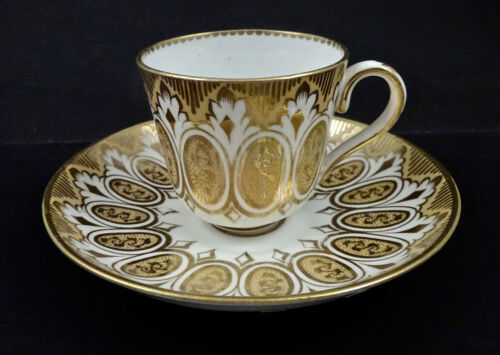 Antique English Coffee Cup & Saucer