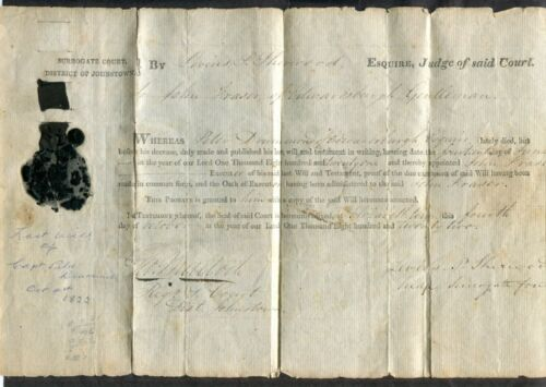 c25-Canada UNITED EMPIRE LOYALIST Document 1822 Capt Peter Drummond Edwardsburgh