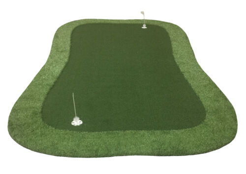 7 ft x 13 ft SyntheticTurf Grass Nylon Chipping Practice Golf Green Non Putting