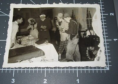 1940's Halloween Party Costume SCARY Face MASK Spooky Vintage Snapshot PHOTO #2