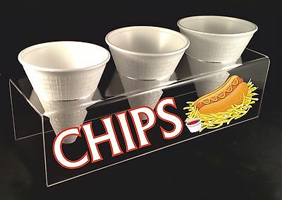 CHIP CONE HOLDER DISPLAY STAND CARRIER 3MM HIGH QUALITY ACRYLIC (CC003)