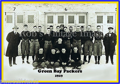 Green Bay Packers Team photo Poster NFL Vintage 1919 First year  photo 8 X11