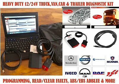 PROFESSIONAL CAR VAN TRUCK HGV UNIVERSAL BLUETOOTH DIAGNOSTIC KIT ABS/OBD/FAULTS