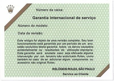 ROLEX VINTAGE Certificate Service BRAZIL DAY DATE OYSTERQUARTZ 19018 19019 19028