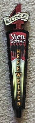 FOUR SONS BREWING HEFEWEIZEN FIGURAL BEER TAP HANDLE RARE HUNTINGTON BEACH