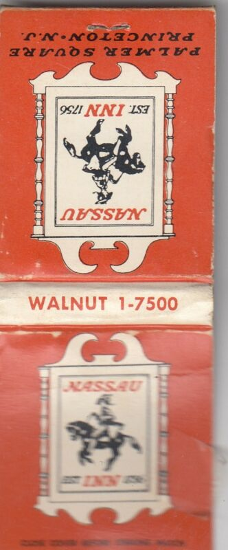 MATCHBOOK Nassau Inn Princeton  New Jersey  1960's