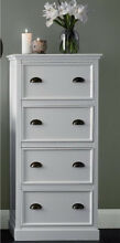 2x white Hamptons provincial tall boys chest of 4 drawers Knoxfield Knox Area Preview