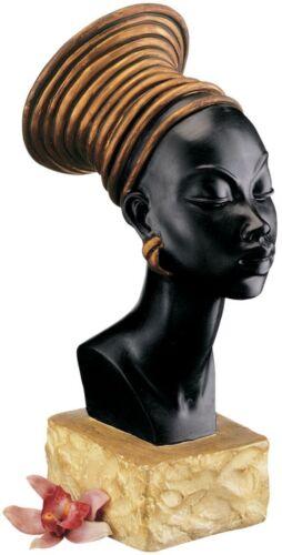 Regal Queen of Nubia Statue African Woman Gallery Bust Sculpture NEW