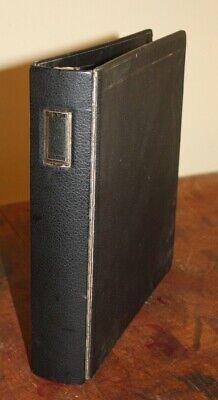 Wilson Jones Vintage Black Business 3 Ring Binder 344-34l Made Usa 11 12 X 10