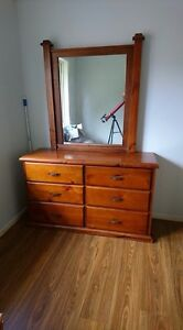 Solid wood  dressing table with mirror Woodridge Logan Area Preview