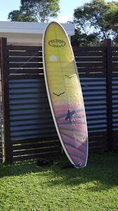 Na Papa Mini mal 7.3f surfboard  +steamer size 10 Mooloolaba Maroochydore Area Preview