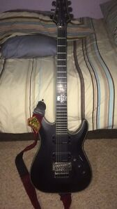 Schecter diamond series 6 string with cube amp and hard case Narellan Vale Camden Area Preview