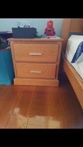 King Single Bed with two bedsides and a mattress Rockdale Rockdale Area Preview