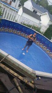 Changement de toile de piscine et réinstallation