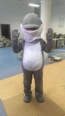Adults Grey Dolphin Mascot Costume Party Game Professional New Style Fancy - Dolphin Fancy Dress Costume