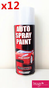 12 x Auto Spray Paint Gloss White or Gloss Black Bulk Buy 10-1031 PICK UP ONLY