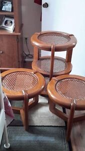 3 Antique Wooden Tables
