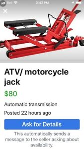 Motorcycle/ATV lift-jack for sale