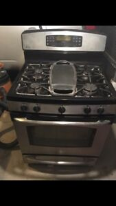 "Ge profile 30"" gas range stove oven cooktop"