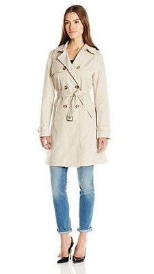 TAHARI NEW LAURIE WOMEN CLASSIC DOUBLE BREASTED TRENCH COAT SIZE L MSRP $220