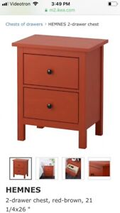 (2) Commodes / tables de chevet Ikea