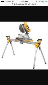Dewalt table saw and mitre saw