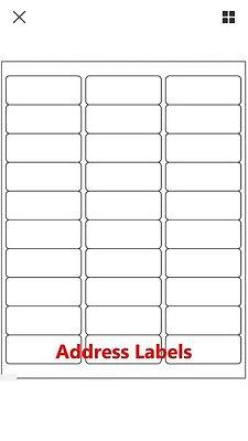 300 Avery 5160 8160 Shippingaddress Labels 30 Per Sheet 10 Sheets