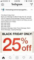 Black Friday sales for massage therapy!