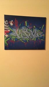 Graffiti style canvases art collectibles paint painting hip hop